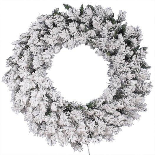 Vickerman Co. Flocked Snow Ridge Wreath with 224 Tips