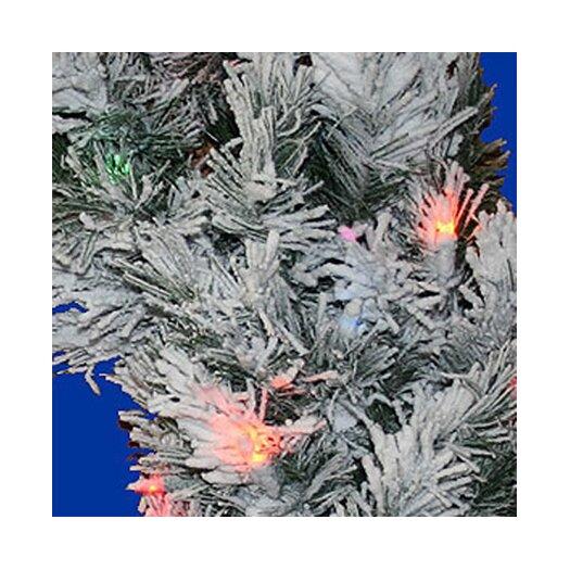 """Vickerman Co. 30"""" Prelit Flocked Alaskan Wreath"""