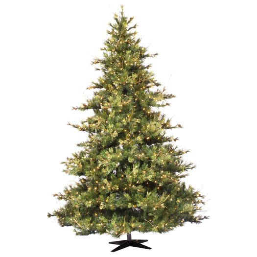 Vickerman Co. Mixed Country Pine 7.5' Green Artificial Christmas Tree with 800 Clear Lights with Stand