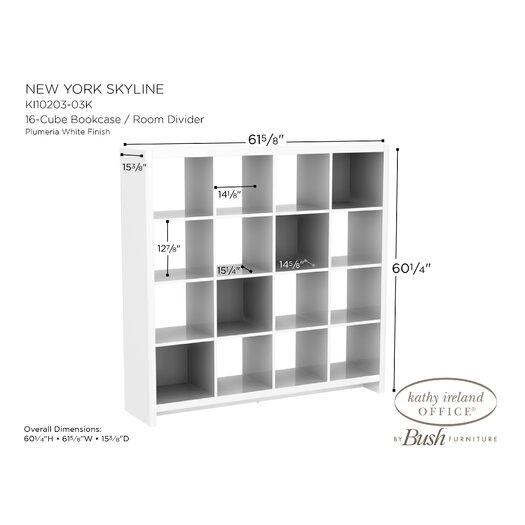 "kathy ireland Office by Bush New York Skyline 60.24"" Bookcase"