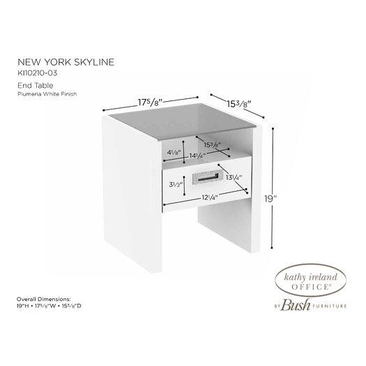 kathy ireland Office by Bush NEW YORK SKYLINE End Table