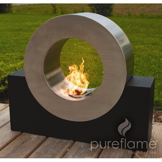 PureFlame Pureflame Stainless Steel Bio-Ethanol Outdoor Fireplace
