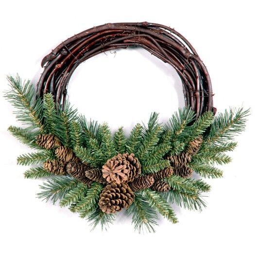 "National Tree Co. 16"" Pine Cone Grapevine Wreath"