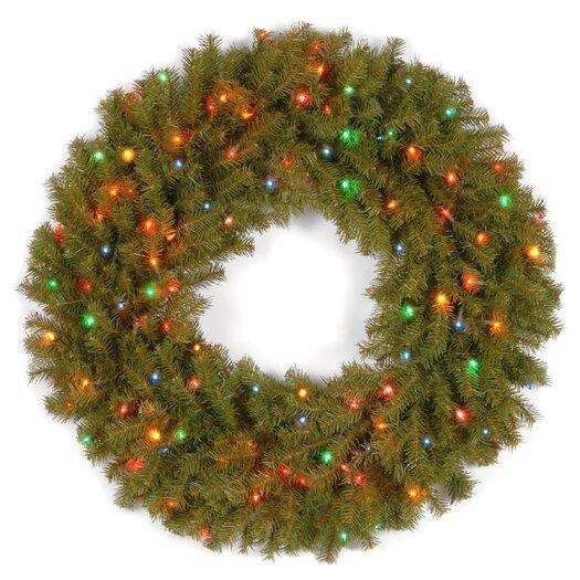 "National Tree Co. Norwood Fir 30"" Pre-Lit Wreath"