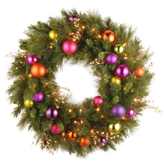 "National Tree Co. Pre-Lit 30"" Kaleidoscope Wreath"