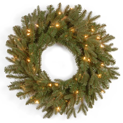 "National Tree Co. Tiffany Fir Pre-Lit 24"" Wreath"