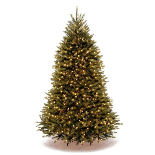 National Tree Co. Dunhill Fir 7.5' Green Artificial Christmas Tree with 750 Clear Lights