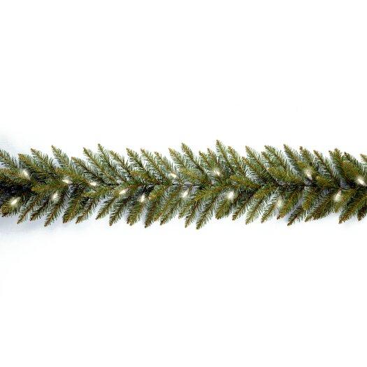 """National Tree Co. Dunhill Fir Pre-Lit 9' x 10"""" Garland"""