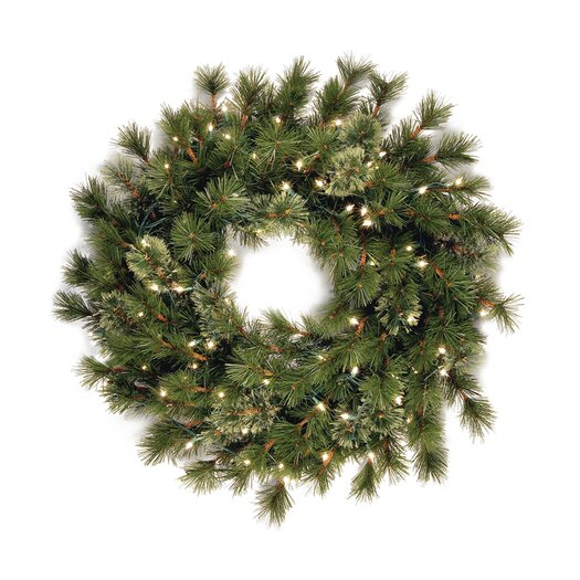 "National Tree Co. Wispy Willow 36"" Pre-Lit Wreath"