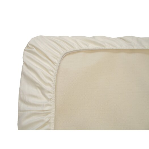 Naturepedic Flannel Fitted Crib Pad