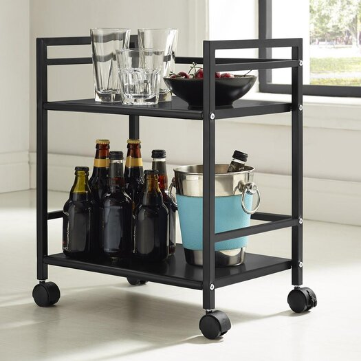 Altra Furniture Marshall 2 Shelf Rolling Utility Cart