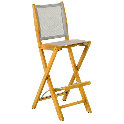 Les Jardins Teak Sillage Folding Bar Stool