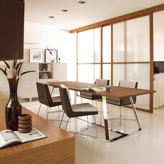 Varaschin Avalon Armless Dining Chair in Dark Brown
