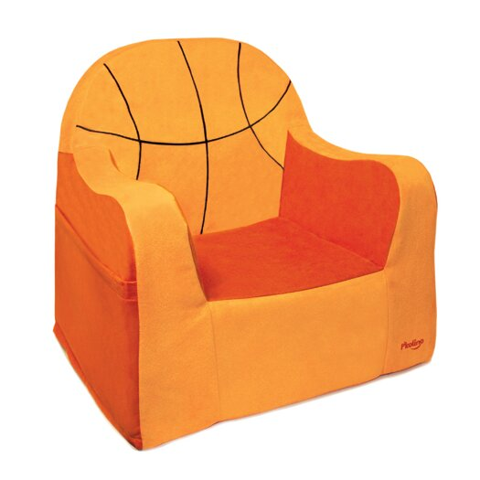 Playful Embroidery Basketball Kids Club Chair