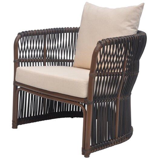 David Francis Furniture Tahiti Deep Seating Chair with Cushions