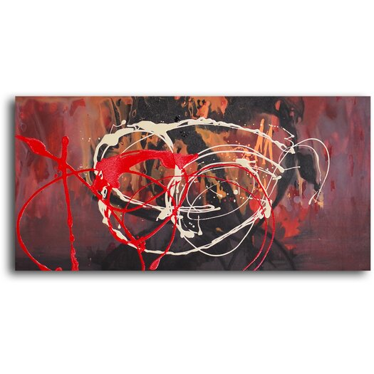 My Art Outlet Bonfire Original Painting on Canvas