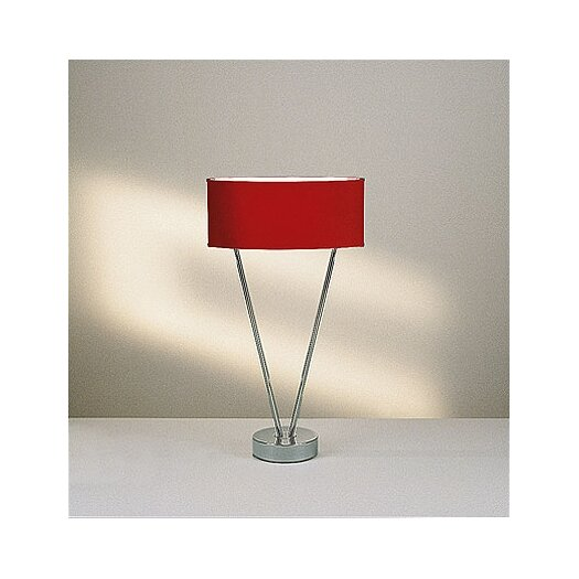"Leucos Vittoria T1/C 24"" H Table Lamp with Oval Shade"