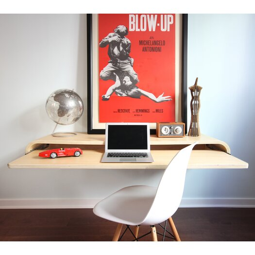 Laptop desk allmodern - Orange floating desk ...