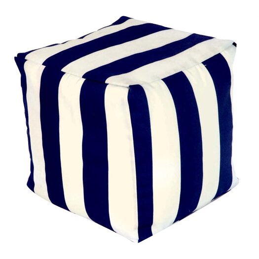Majestic Home Products Striped Pouf Ottoman