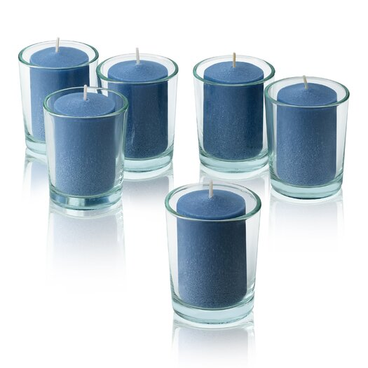 Light In the Dark Blue Ocean Breeze Scented Votive Candles