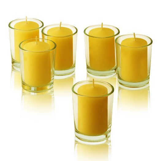 Light In the Dark Citronella Yellow Votive Candles
