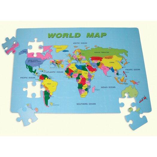 edushape World Map Floor Puzzle