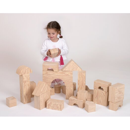edushape Wood-Like Giant Toy Blocks