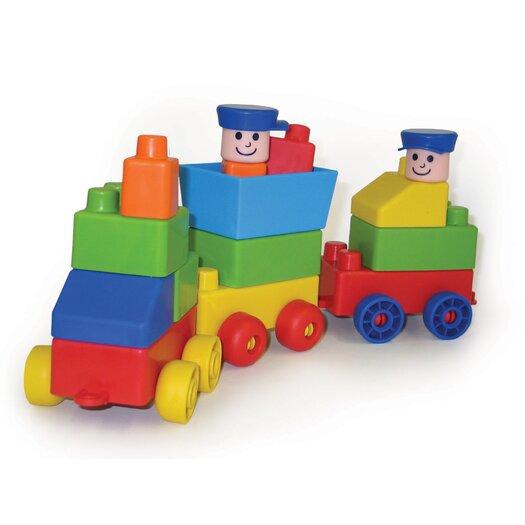 edushape Mini Edu Block Toy Train