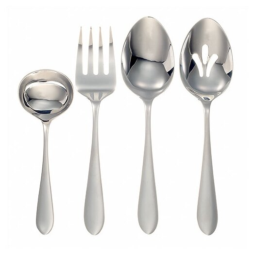 Ginkgo Stainless Steel Linden 4 Piece Hostess Set