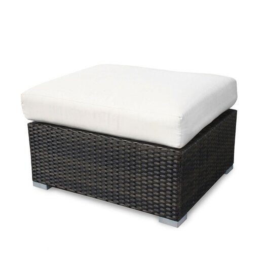 Source Outdoor Lucaya Ottoman with Cushion