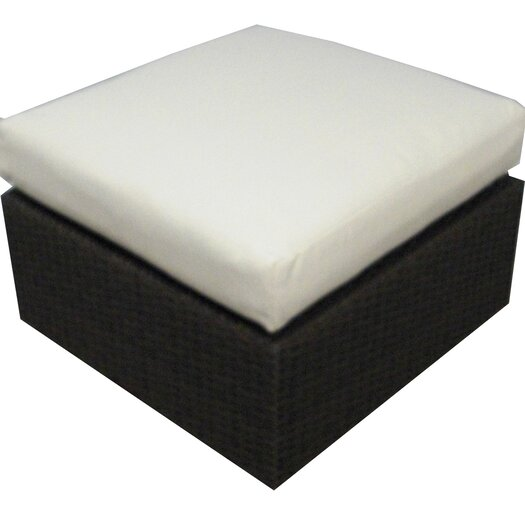 Source Outdoor Manhattan Ottoman with Cushion