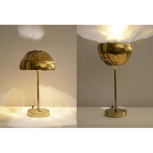 "Lightexture Involution 15"" H Table Lamp with Bowl Shade"
