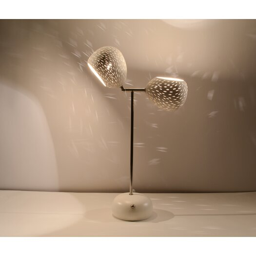 "Lightexture Model T-Line 18.5"" H Table Lamp with Bowl Shade"