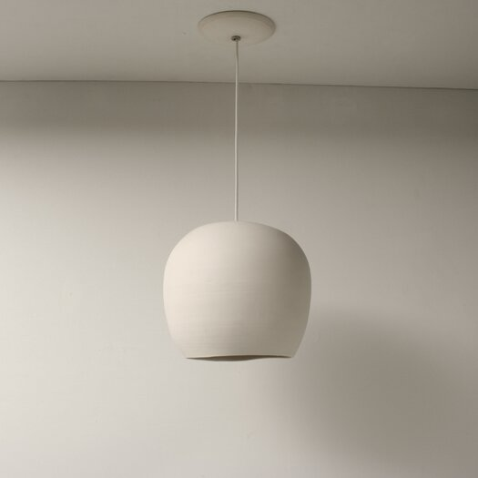 "Lightexture Claylight 8.5"" Porcelain Symmetrical Pendant"