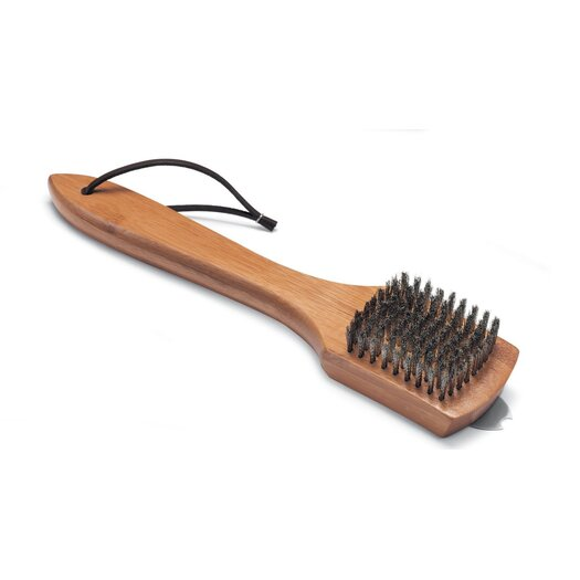 "Weber 12"" Grill Brush (Bamboo Handle)"
