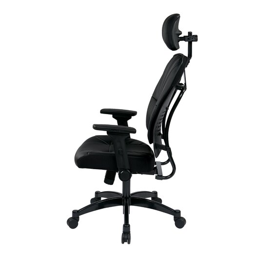 """Office Star Products Space 23.25"""" Eco Leather Managers Chair with Headrest"""