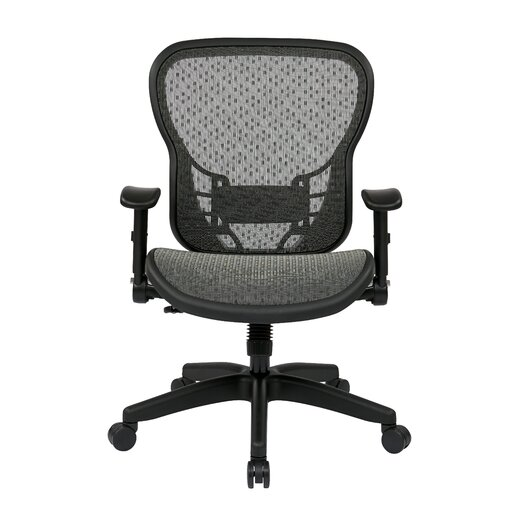 """Office Star Products Space 28"""" Chair with Flip Arms"""