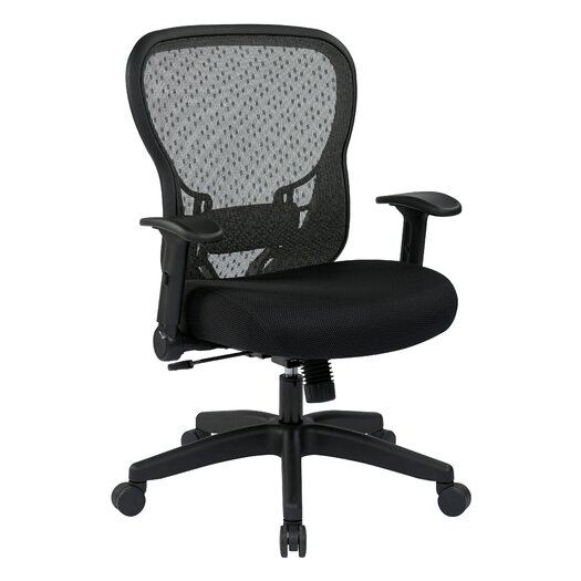 """Office Star Products Space 28"""" Back Chair with Mesh Seat and Flip Arms"""