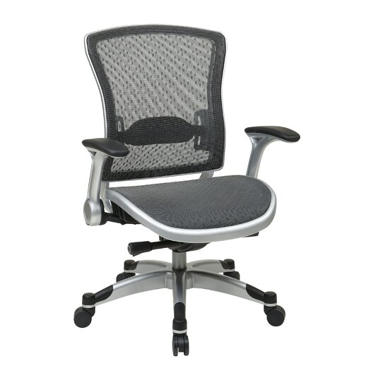 Office Star Products Professional R2 Space Grid Back Chair with Flip Arms