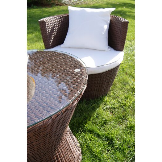 Deeco Geo Vase Stacking 5 Piece Lounge Seating Group with Cushions