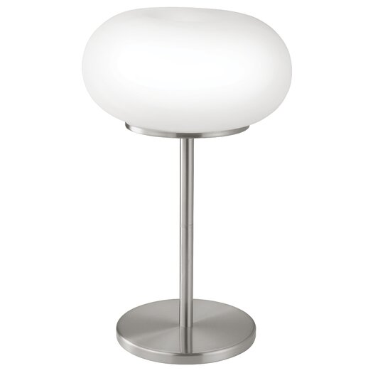 """EGLO Optica 18.13"""" H Table Lamp with Oval Shade"""