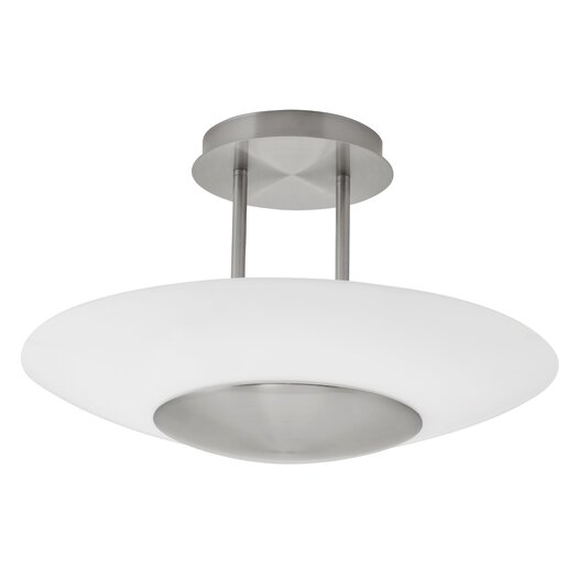 EGLO Oiram 1 Light Semi Flush Ceiling Light