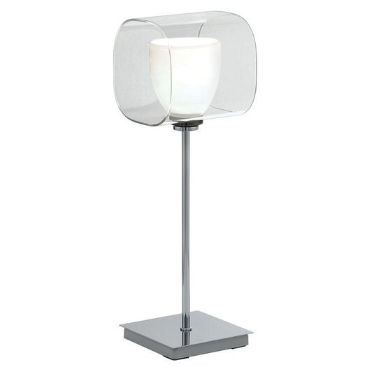 """EGLO Lou 15.38"""" H Table Lamp with Drum Shade"""