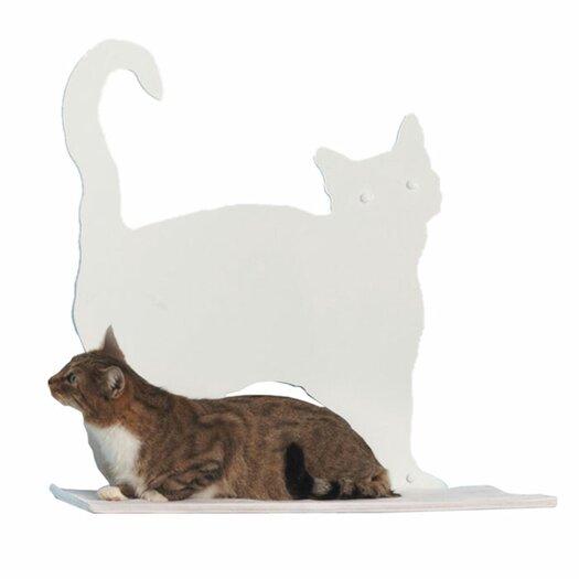 The Refined Feline Cat Silhouette Prance Cat Shelf