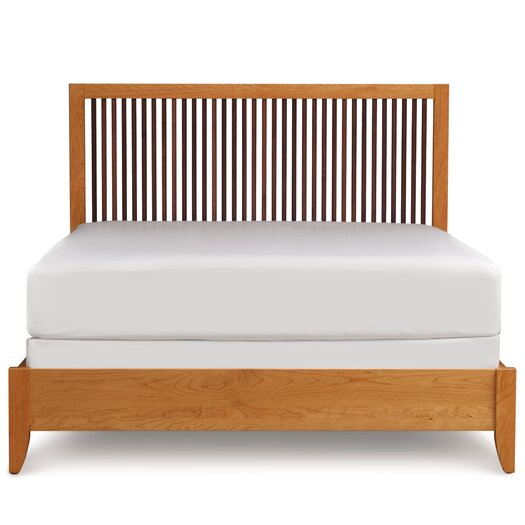 Copeland Furniture Dominion Platform Bed with Spindle Headboard
