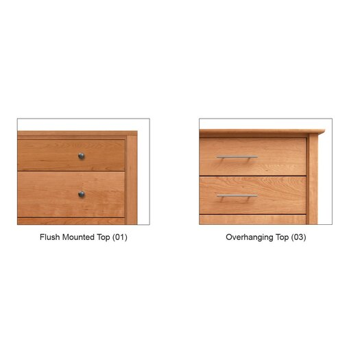 Copeland Furniture Dominion 3 Drawer Chest with Media Organizer Overhanging Top