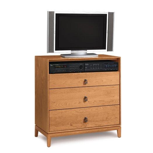 Copeland Furniture Mansfield 3 Drawer Chest with Media Organizer
