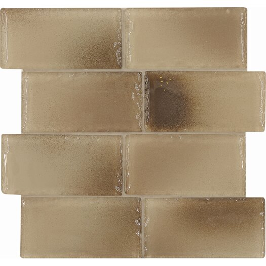 Casa Italia Fashion Glass Tile in Mix Fashion Sand