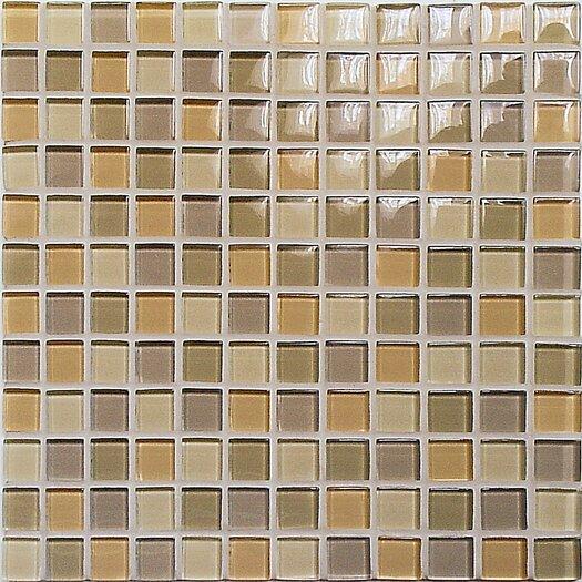 Casa Italia Crystal-A Glass Mosaic in Mix Beige Gloss
