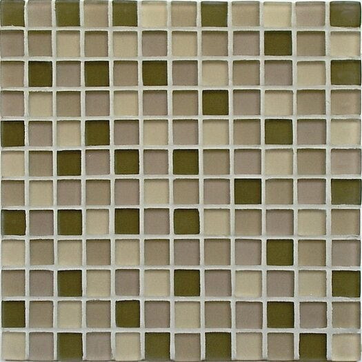 Casa Italia Crystal-A Glass Frosted Mosaic in Forest Mix